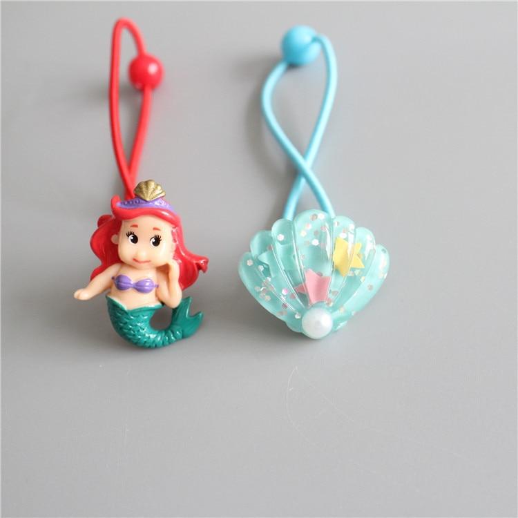 2 PCS  New Mermaid Shells Elastic Hair Bands Baby Headwear Girls Hair Accessories Tie Hair Ropes Children Headdress