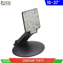 Support de Table pliant pour moniteur LCD support de montage pour téléviseur réglable support de bureau pour téléviseur 10 -27 avec trou VESA 75x75mm 100x100mm