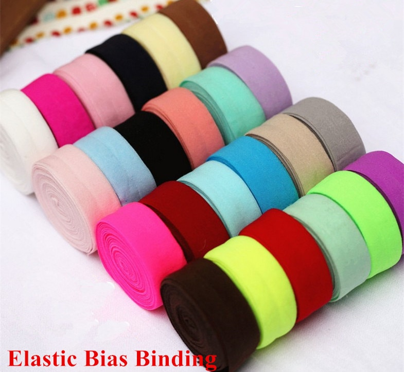 20Meters / Lot 2CM Spandex Bias Binding Elastic trim tape clothes hat craft patchwork seam underwear free ship