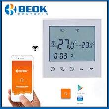 Beok TDS21WIFI-EP Wifi Funktion Thermostat Weiß Zurück Licht Smart Temperatur Regler Unterstützung Alexa Google Hause