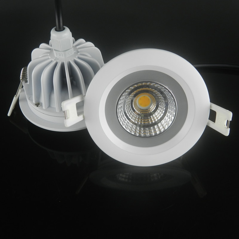 Luz LED descendente COB, 5W, 7W, 9W, 12W, luces empotrables de techo,...