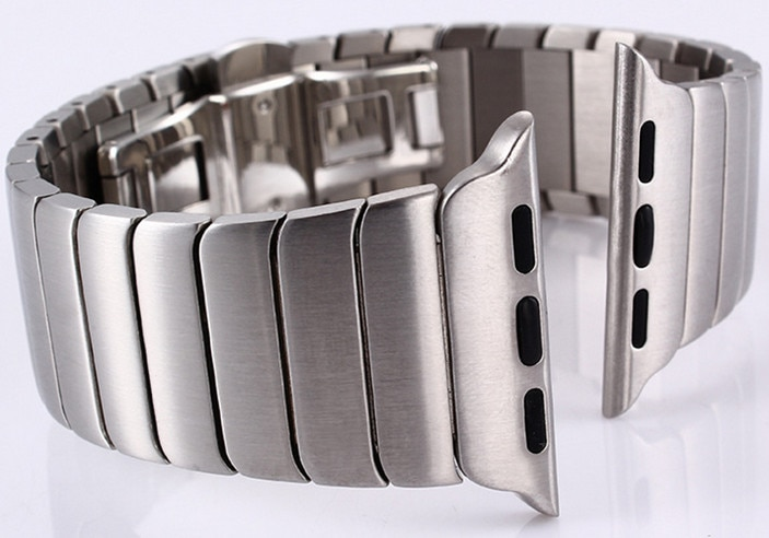 Wholesale 10PCS/lot 316L stainless steel watch straps watchband Link Bracelet strap for iwatch For Apple watch band 42mm 38mm enlarge