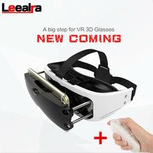 Nouveau VR eyes réalité virtuelle 3D jeux vidéo lunettes Google Carboard vr box casque pour Iphone 3.5-6 pouces + télécommande Gamepad