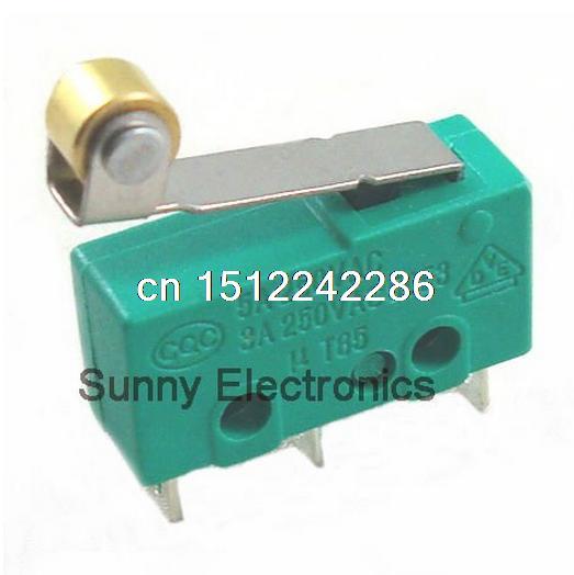 100 pcs microswitch kw4 limit switch 3pin n/s n/c interruptor micro
