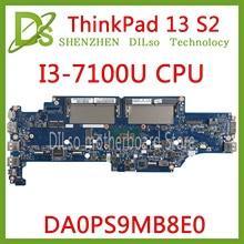 KEFU DA0PS9MB8E0 Laptop motherboard for Lenovo ThinkPad 13 S2 Laptop Motherboard I3-7100U CPU original tested