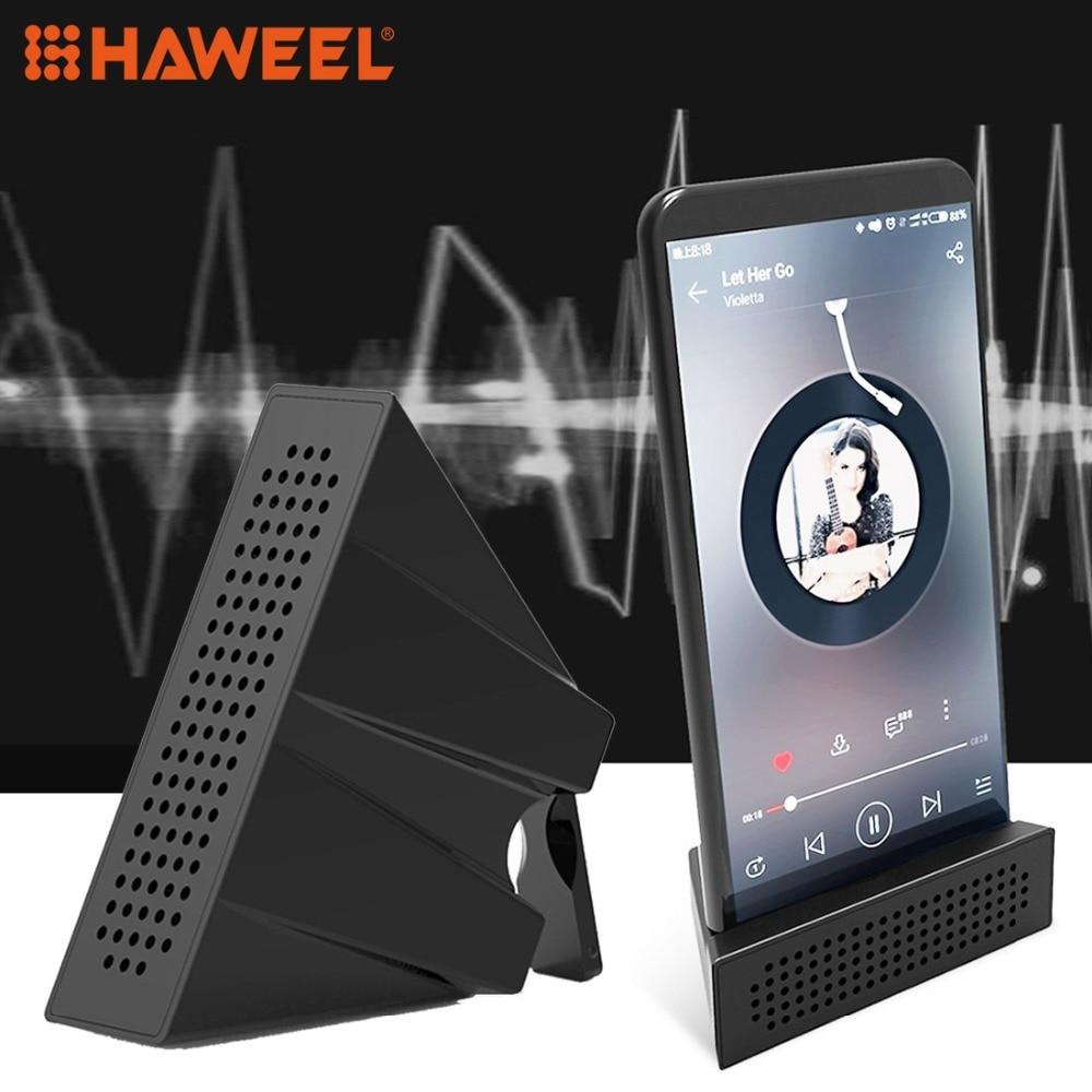 HAWEEL 2 в 1 усилитель звука док-динамик ABS держатель телефона Подставка для iPhone, iPad, Samsung, других смартфонов