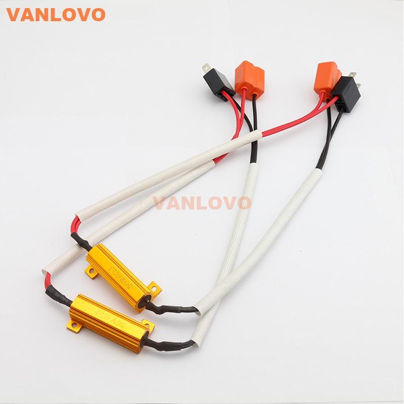 H7 LED Bulb 50W 6ohm Load Resistor CANBUS ERROR FREE