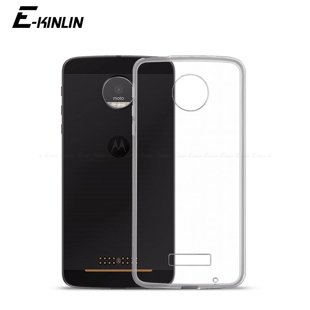 Ultradünne Klar Weichen Schutzhülle TPU Fall Für Motorola Moto X4 Z Z2 Z3 Z4 Spielen M E6 E6s E5 E4 C Plus Silikon Zurück Telefon Abdeckung