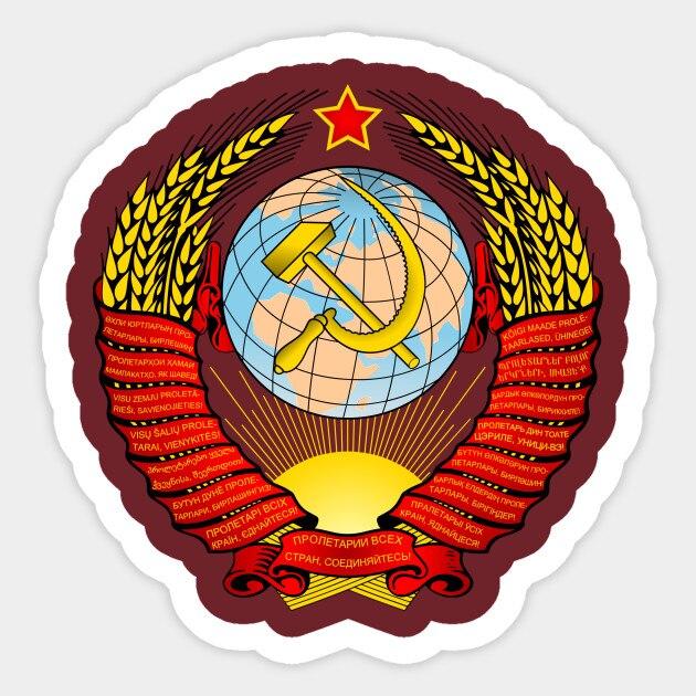 1 Uds., República de la Unión Soviética, pegatina de coche para patineta, Maleta, nevera, motocicleta, pegatina, pegatina, diseño de coche