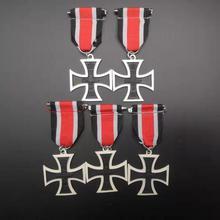 Croix de fer allemande 5 pièces/lot   Pour la classe 2ème, guerre prussienne et Franco, 1870, médaille militaire prussienne EK2, 1870