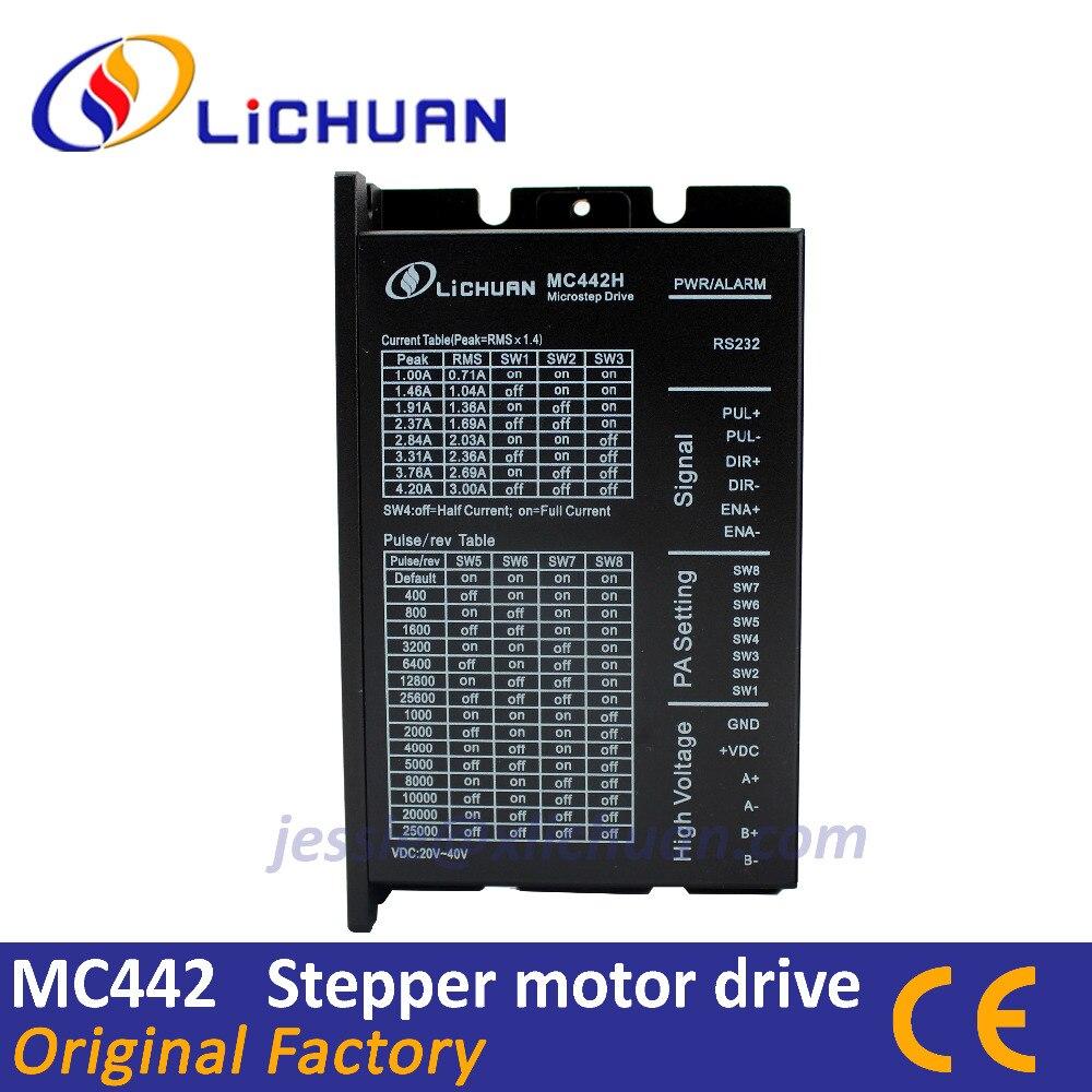 Lichuan bom preço MC442 DSP fit Nema17 Nema23 CNC digital stepper motor driver leadshine motor de passo do sistema pode substituir DM442
