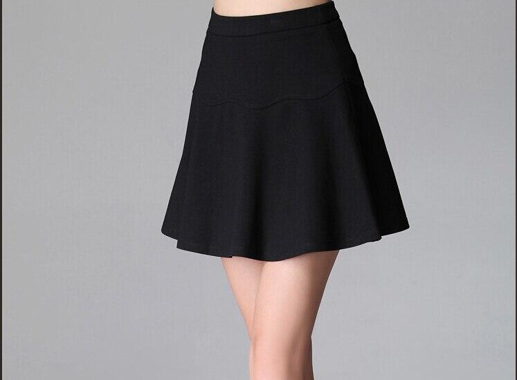 Personalizar 2015 primavera verano Mujer de talla grande paño romano plisados Unidos simple una línea falda elegante todo partido mini faldas 42cm