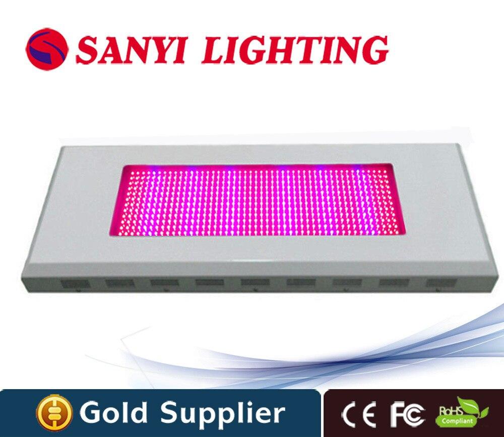 Alta potencia 600 W 576 LED Square LED planta crece la luz roja azul invernadero crece la luz llevada para las plantas de interior con el kit cuelgue