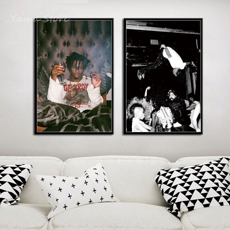 P391 Playboi Carti Álbum de Música de moda Magnolia Hip Hop rapero arte de estrella pintura lienzo seda Poster pared decoración del hogar