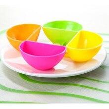 4 pièces/lot trempette soucoupes assortiment salade Sauce Ketchup Dip Clip tasse bol pour tomate sel vinaigre sucre saveur épissure accessoires