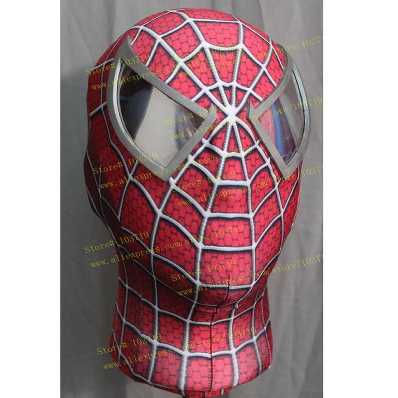 Hero Catcher Super Quality Custom Made Hero Toby Spider-Man Cosplay Mask Elastic Spiderman Mask With Eyes Raimi Spiderman Mask