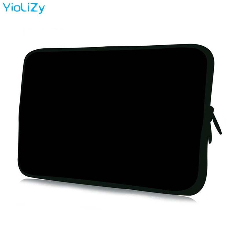 pure black Laptop Case 7 10 12 13 14 15 17 tablet Bag 7.9 9.7 11.6 13.3 14.1 15.4 15.6 17.3 Notebook liner sleeve cover NS-3333