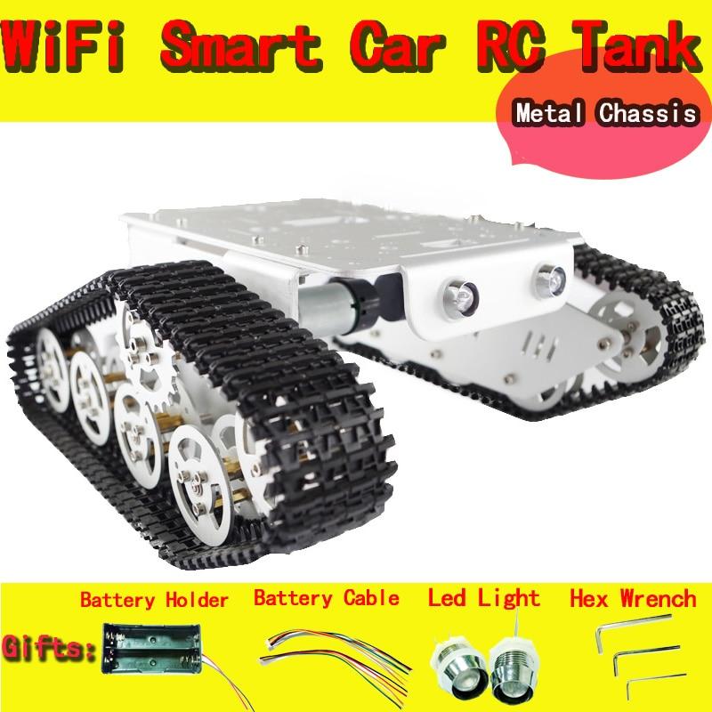 Chasis de coche de tanque RC con rodamientos de orugas de Carga inteligente de Tractor de obstáculos oruga de pared-e DIY Kit de juguete