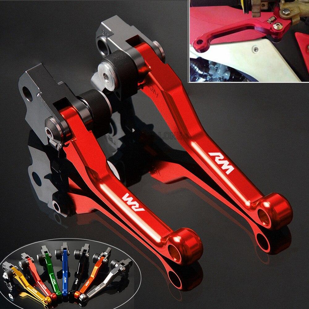 CNC pivote palanca para SUZUKI RM 85 125 250 RM85 2005-2015 RM125 RM250 2004, 2005, 2006, 2007, 2008 palancas de embrague de freno de bicicleta de tierra