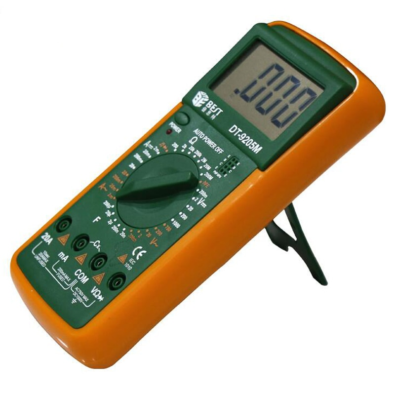 DT9205M AC DC pantalla LCD, medidor profesional eléctrico de mano, multímetro Digital, multímetro, amperímetro, multímetro DT9205A