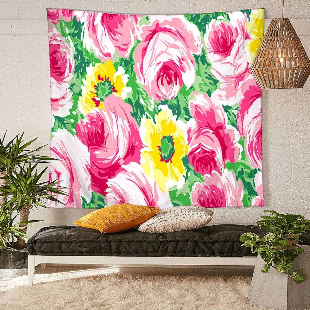 HommomH Tapeçaria Arte Da Decoração Da Parede Pendurado na Sala de estar Do Quarto Do Dormitório Peixes Tropicais Laranja Do Vintage