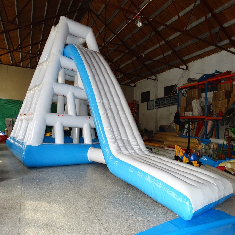 3 years warranty High quality Float Inflatable water climbing slide for water park