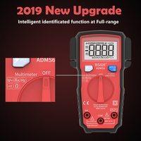 Mini Digital Multimeter ESR Meter 6000 Counts LCD True RMS DC/AC Voltage Current Meter with V-alert Test Probes For Multimeter