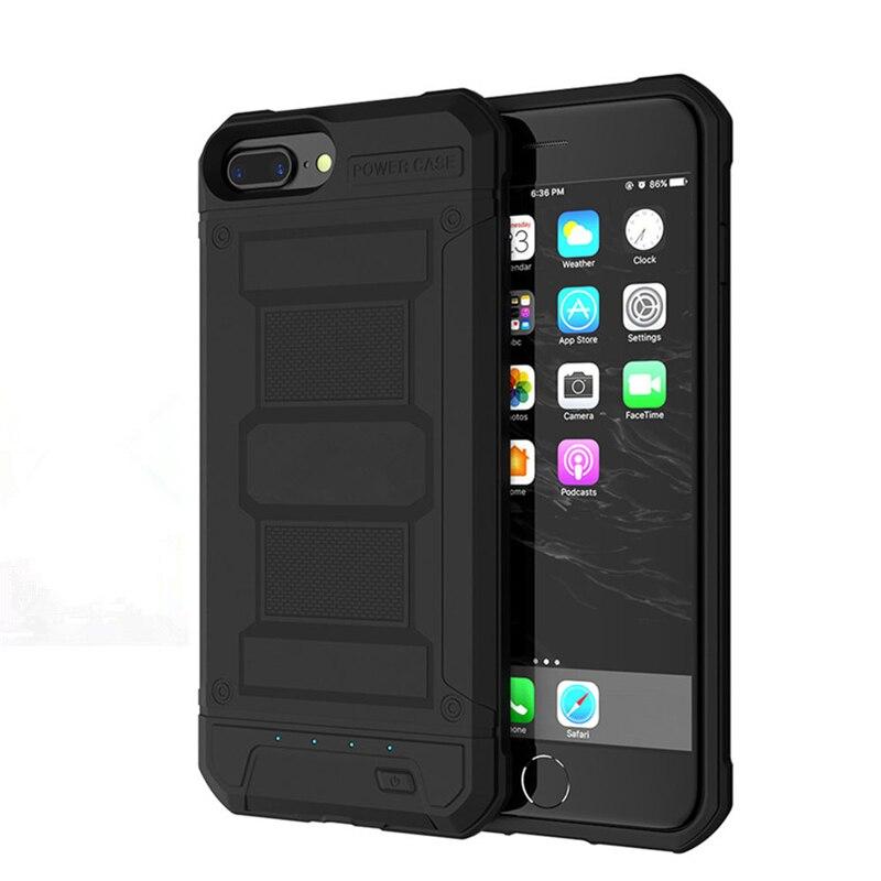 Funda de cargador de batería de 2019 mAh para iPhone 8 7 6 6s Plus, carcasa de batería de respaldo con armadura de 4200mAh para iPhone 6 Plus 8 7