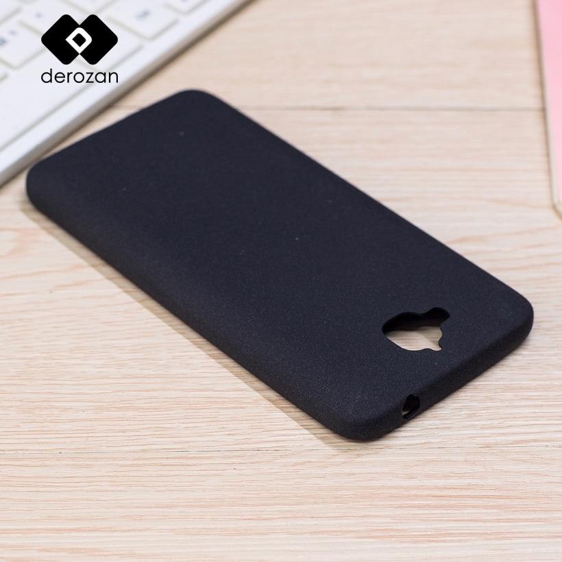 DEROZAN fregar los casos para Huawei Honor 4C Pro TIT-AL00 Y6 Pro TIT-L01 TIT-U02 disfrutar 5 Y6 Pro TPU suave bolsa simple Shell