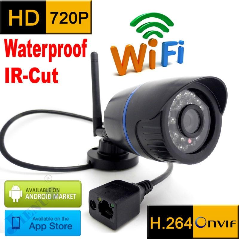 Cámara ip 720p HD a prueba de agua para exteriores, sistema de seguridad cctv impermeable, videovigilancia infrarroja, minicámara inalámbrica para el hogar