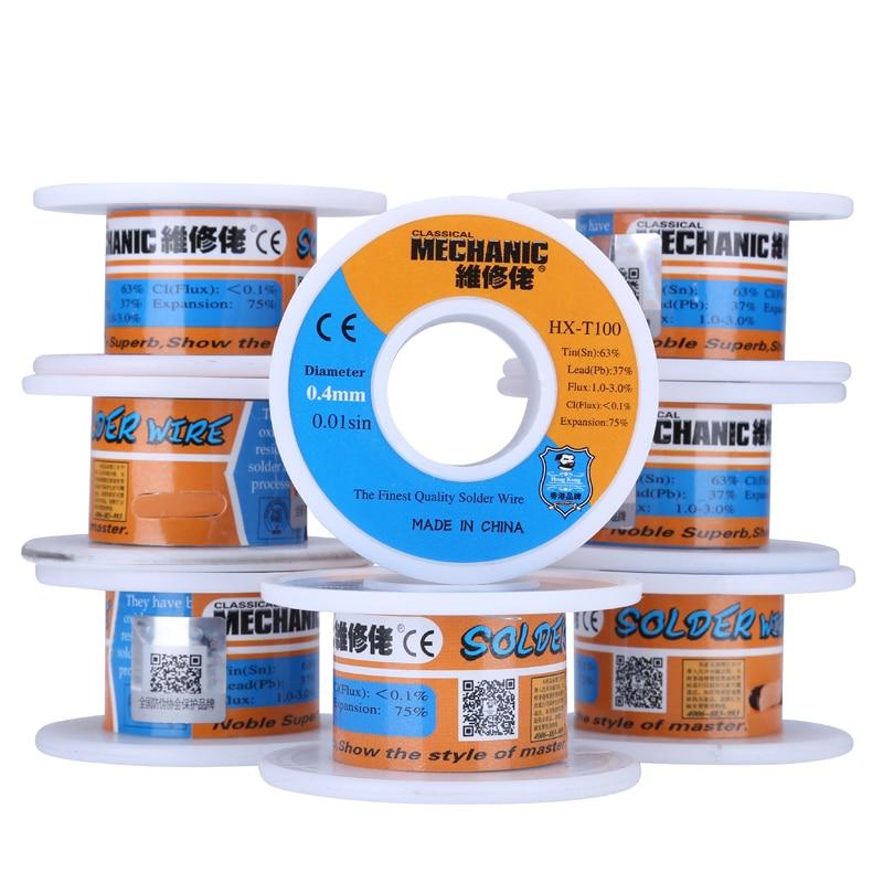 2pcs/lot Rosin Core Solder Wire 0.4mm 40g Low Melting Point Soldering BGA Tools