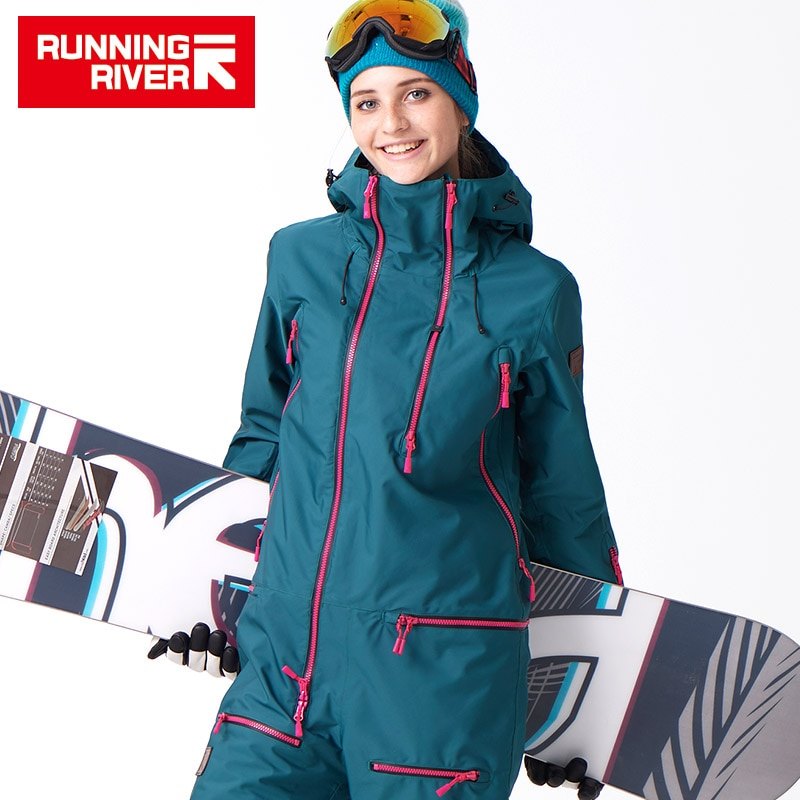 RUNNING RIVER Brand Waterproof jumpsuit For women Snowboard Suit  women Snowboard Jacket Female Snowboarding Set Clothing #B7091