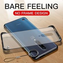 Luxe Frameloze Slim Cases Voor Oneplus 7 Pro Een Plus Oneplus7 Oneplus7Pro Hard Pc Matte Transparant Cover Funda Frame Key ring