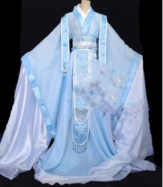 Xu Ran Ju Weiß Blau Männlichen Kostüm Hanfu Cos ShenAn MuYan ShangGuan Tou männer Scholar Cosplay Hanfu