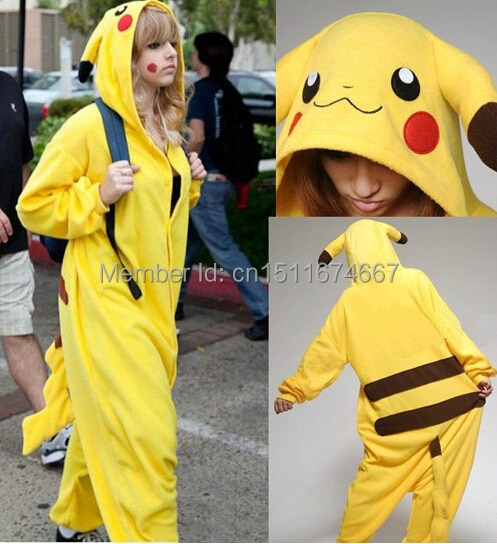 Traje de pijama de franela suave gruesa-Pokemon Pikachu Halloween Navidad carnaval fiesta ropa