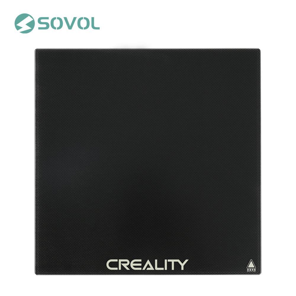 CREALITY 3D drukarki platformy krzemu węgla ogrzewany łóżko powierzchnia do zabudowy płyta ze szkła hartowanego 235*235*3mm dla Ender-3 3Pro Ender-5