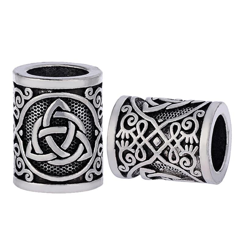 1pc Exquisite Viking Knots Beads for BraceletsPendant Necklace Jewelry DIY Beard Hair Beads C85