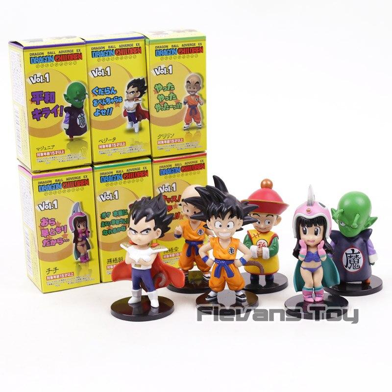 Dragon Ball ADVERGE EX Drachen Kinder Sohn Goku Gohan ChiChi Piccolo Vegeta Klilyn PVC Figuren Spielzeug 6 teile/satz