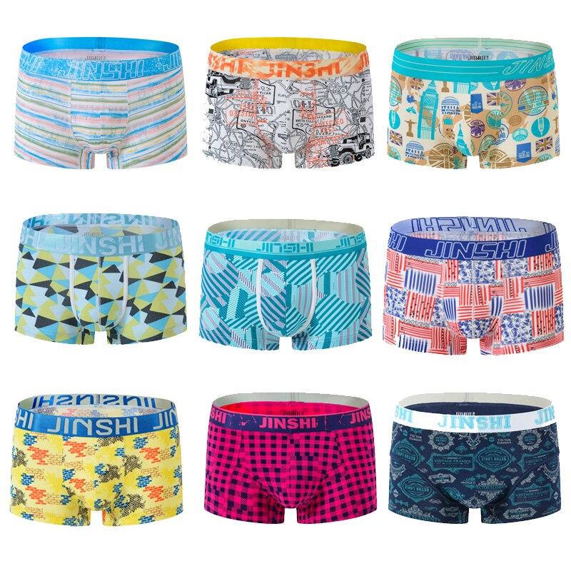 New men's bamboo fiber print boxer shorts mens comfortable underwear u convex underpants for men