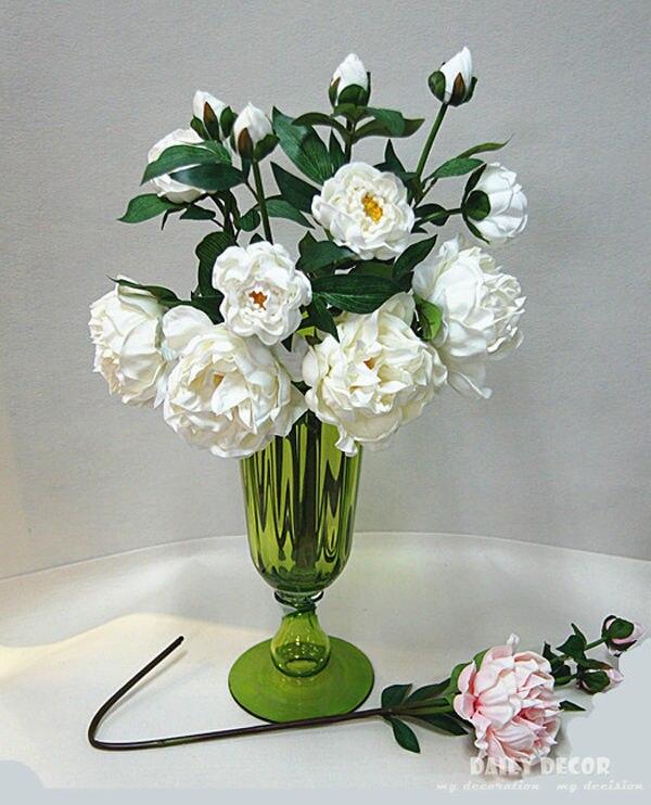 Venda por atacado!!! verdadeiro/Natural Toque PU flor Peônia Paeonia suffruticosa haste longa grande 3 cabeças casa decorativo 12 pçs/lote