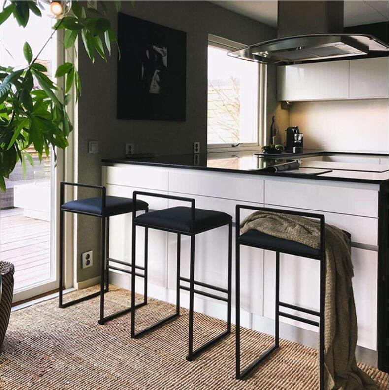 Nordic bar stool modern minimalist bar chair fashion front desk chair personality personality bar chair creative high stool high quality 42cm 62cm 72cm nordic bar stool bar chair creative coffee chair gold high stoolgolden modern leisure metal chair