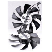 Oryginalny PLA09215B12H 12 V 0.55A 2pin EVGA GTX750/GTX750Ti ACX karta graficzna wentylator chłodzący