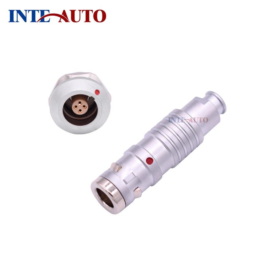 Stanexco push pull conector elétrico, 4 pinos à prova d água IP 68 plug receptáculo, M14 tamanho 0K series, TGG.0K. 304 ZGG.0K. 304