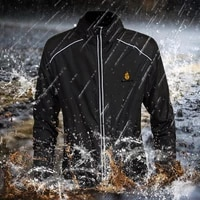 wosawe mens cycling jacket windproof water repellent sports bicycle outwear breathable reflective riding mtb bike clothing