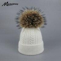 New Pom Poms Women Winter Hats Casual Beanies Fashion Crochet Knitting Hat Brand Thick Female Cap Hat Bone feminino Wholesale
