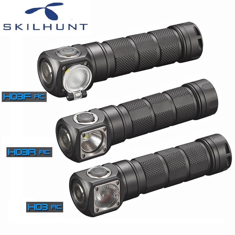 2018 skilhunt h03 h03r h03f rc led farol lampe frontale cree xml1200lm farol para caça pesca campismo por 18650 bateria