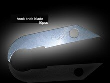 Fuan acrylique crochet couteau lame 10 pièces artisanat couteau Olecranon lame tête outil de coupe acrylique canal lettre strip