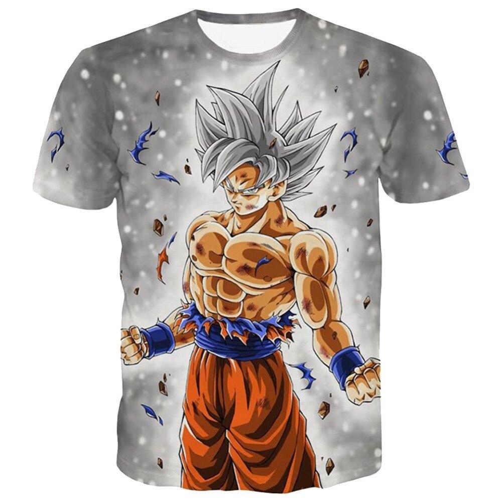 2019New Dragon Ball Z T-shirts hommes été 3D impression Super Saiyan Son Goku noir LIKAR mouche libellule décontracté T Shirt hauts