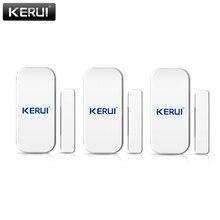 KERUI 433mhz sans fil porte fenêtre capteur détecteur ouvert GSM PSTN maison système dalarme sécurité à la maison voix cambrioleur système dalarme intelligent