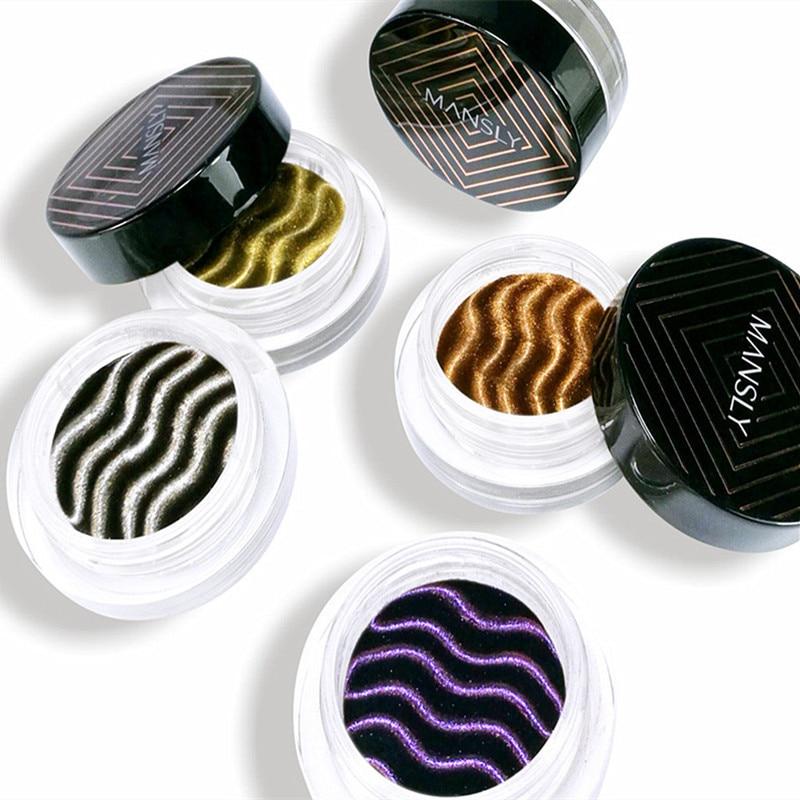 Nuevo de Mousse magnético paleta de sombra de ojos de Color intermitente de Metal mate pigmento lentejuelas paleta de sombra duradera juego de maquillaje para los ojos